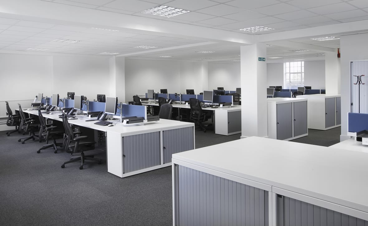Modern office acoustics wellworking for Open plan office design