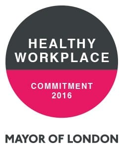 London Healthy Workplace Charter Award 2016 for Wellworking
