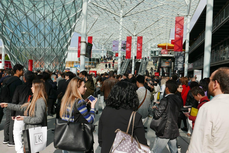 Milan design week queue