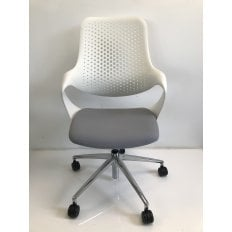 Boss Coza Chair - White - Clearance Chair