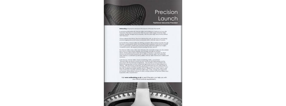 Wellworking Precision Launch article in Archetech magazine in Dec 2012