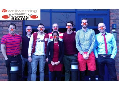 Team pic on Red Nose Day