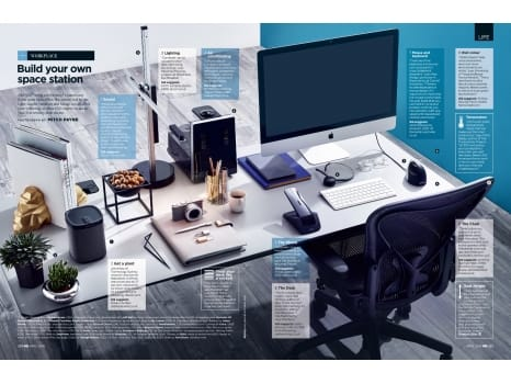 USM Kitos Table and Aeron Chair in British GQ magazine