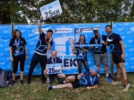 Wellworking Take Part In Thames Bridges Challenge 2019