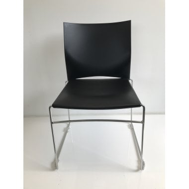 Connection Xpresso One Black Stacking Chair - Clearance Model - Ex-Demo Model