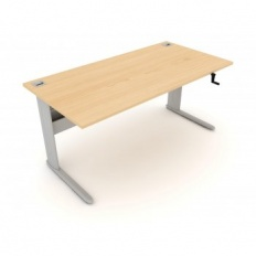Elite Optima Plus Manual Height Adjustable Desk