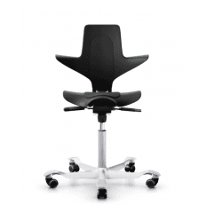HAG Capisco Puls 8010 Black and Silver Stock Chair
