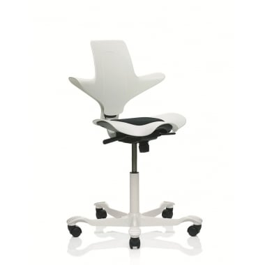 HAG Capisco Puls 8010 White Edition Stock Chair
