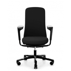 HAG SoFi 7300 Chair - Black - Upholstered Back