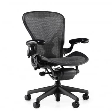 Herman Miller Aeron Chair (Classic) - Tuxedo Grey / Black - Precision
