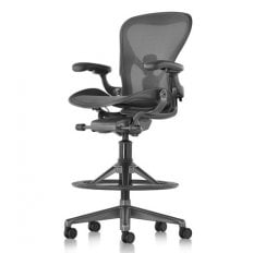 Herman Miller Aeron Work Stool Graphite - Precision