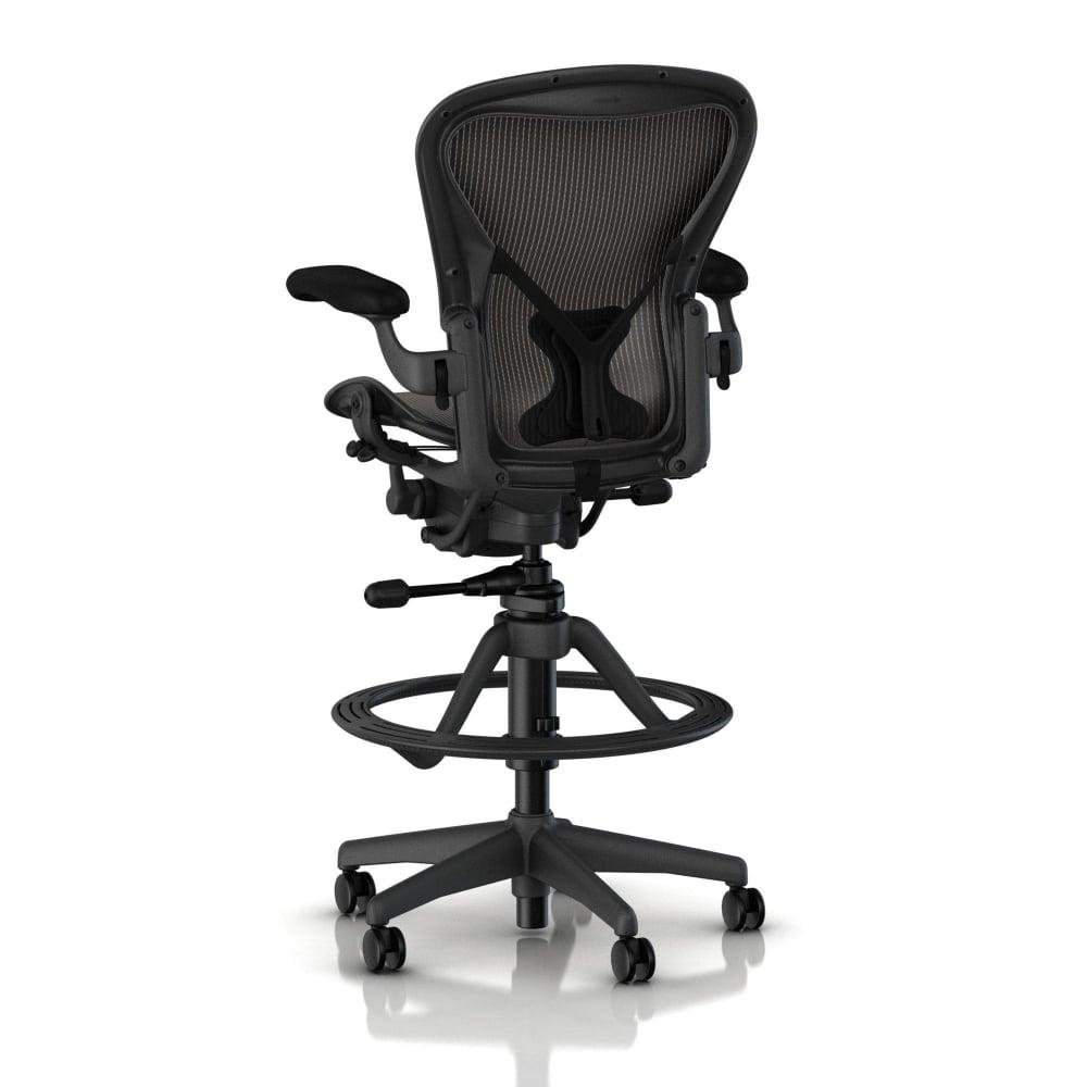 herman miller aeron work stool  precision -