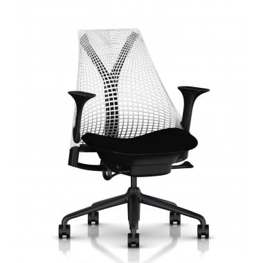 Herman Miller Sayl Chair White and Black