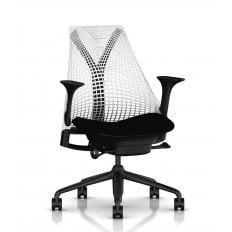 Herman Miller Sayl Chair White and Black - Precision
