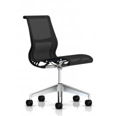 Herman Miller Setu Chair Graphite / Alloy - No Arms