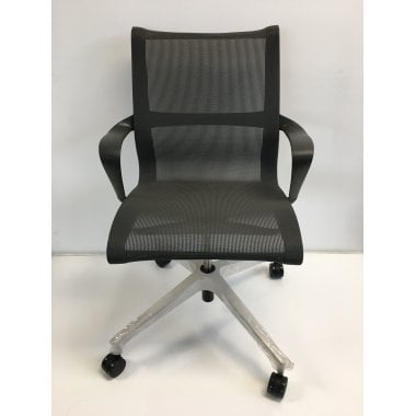 Herman Miller Setu Chair - Graphite - Fixed Height - Clearance Ex-Demo Model