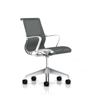 Herman Miller Setu Chair White / Slate Grey - Precision