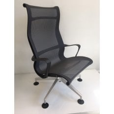 Herman Miller Setu Lounge Chair - Graphite - Clearance Model