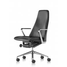 Herman Miller Taper Chair - Black Leather
