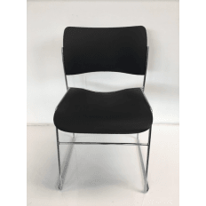 Howe 40/4 Plastic - Black Visitor Chair - Ex Demo - Clearance Model