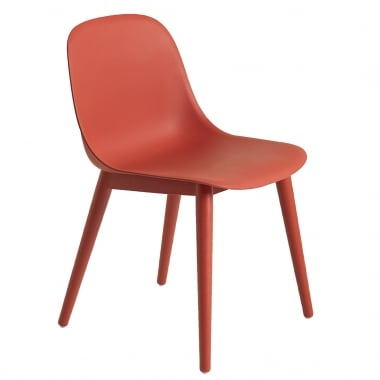 Muuto Fiber Side Chair with Wood Base