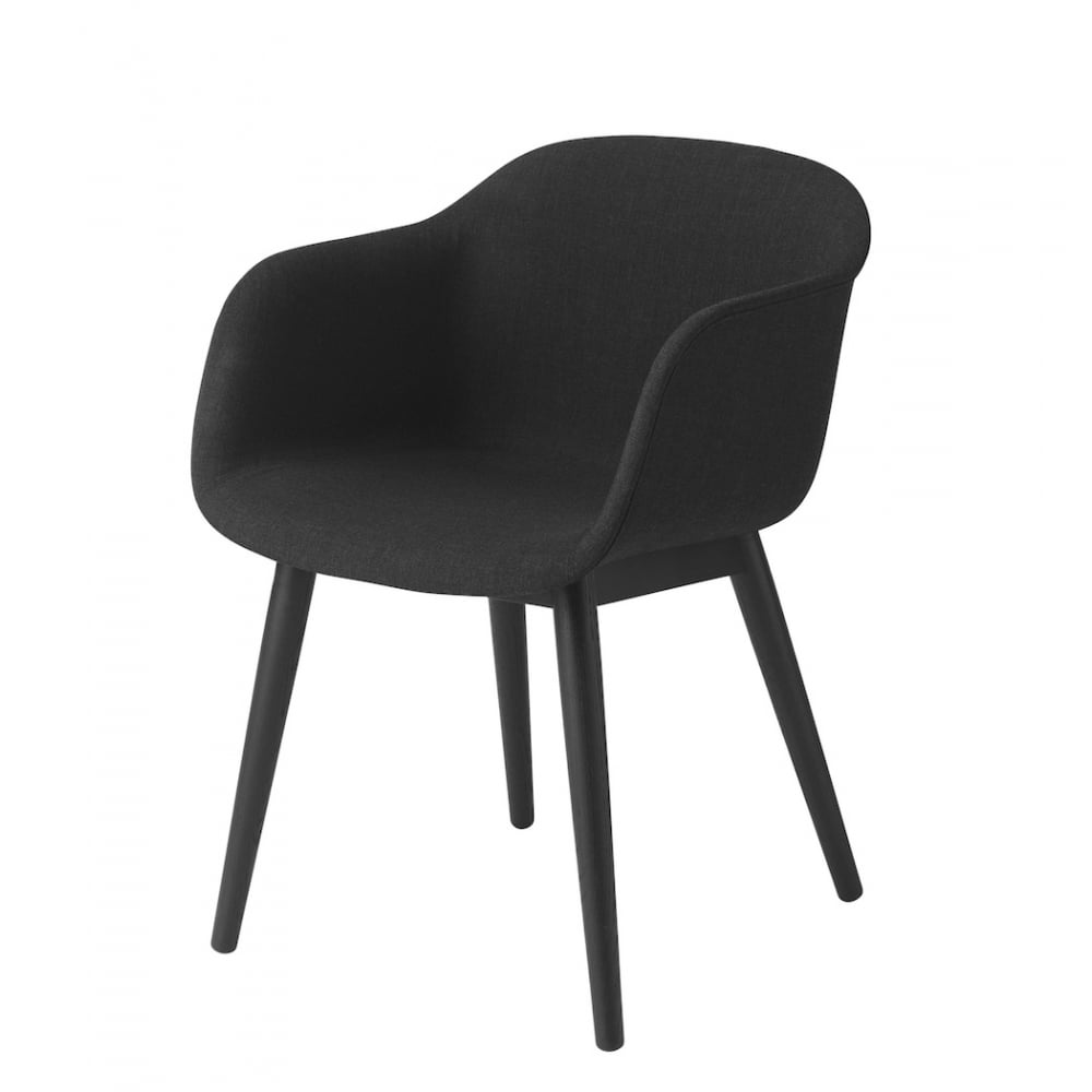 muuto fiber wood base arm chair. Black Bedroom Furniture Sets. Home Design Ideas