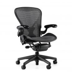 Herman Miller Aeron Chair (Classic) - Tuxedo Grey / Black - Precision