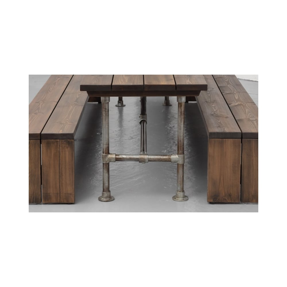 Steel vintage construction table for Dining table construction