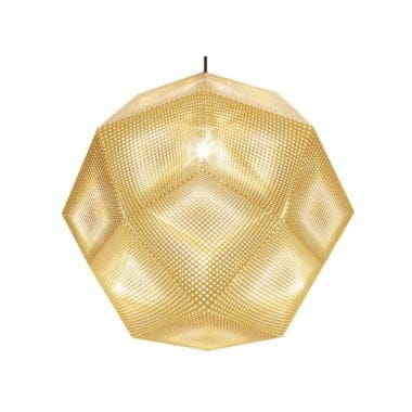 Tom Dixon Etch Shade 50cm Brass Pendant Light