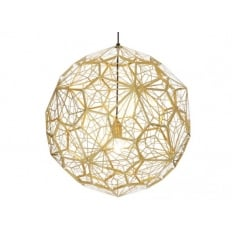 Tom Dixon Etch Web Brass Pendant Light