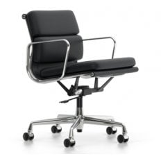 Vitra Eames Soft Pad EA 217 Chair - Stock - Black Leather