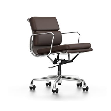 Vitra Eames Soft Pad EA 217 Chair - Stock - Chocolate Leather