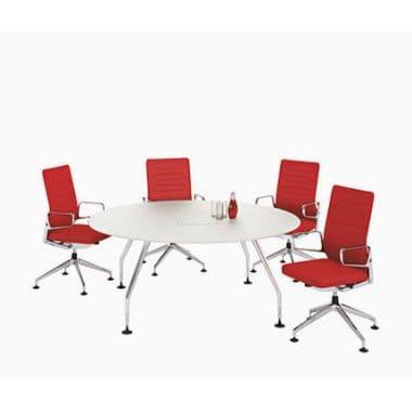 vitra ad hoc round meeting table. Black Bedroom Furniture Sets. Home Design Ideas