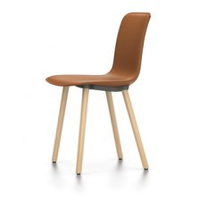 Vitra Hal Leather Wood Chair