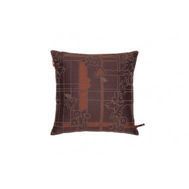 Vitra Park Woven Cayenne / Syrah Cushion Small